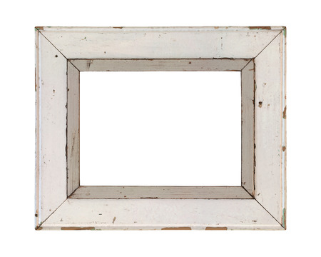 Wooden frame on a white background incl. clipping path.