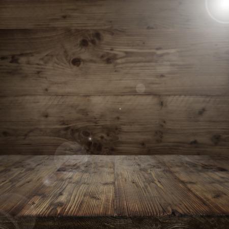 masiv: Dark interior with a wooden floor in vintage style