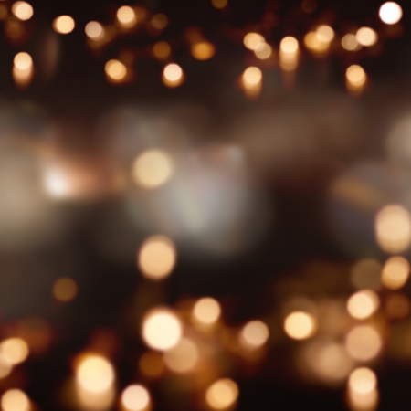 Festive dark background with light spots and bokeh Stock Photo