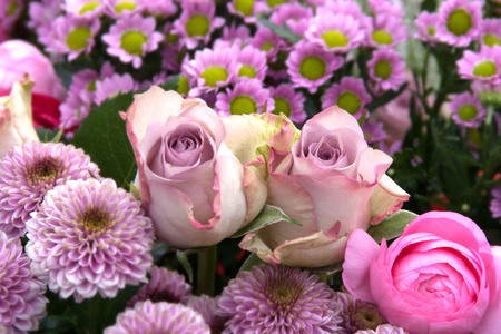 Beautiful tender pink flowers for mothers day