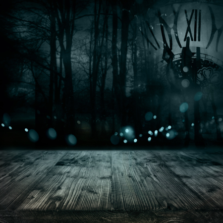 Halloween background with rustic planks for a creepy decoration