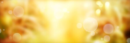 Abstract golden luminous bokeh background