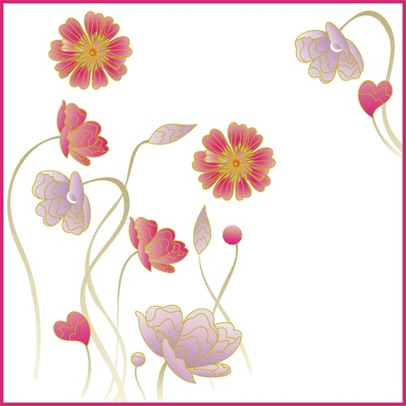 floral greeting card,