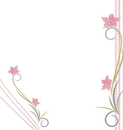 floral background, floral greeting card Illustration