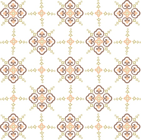 seamless vector wallpaper, seamless fabric pattern Stock Vector - 12902027