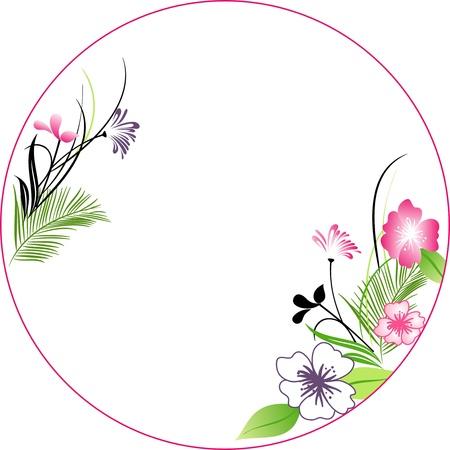 floral background, floral greeting card Çizim