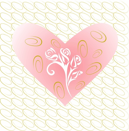 valentine background,heart on a gold lines background