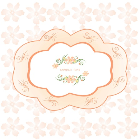 floral background, floral greeting card Illustration