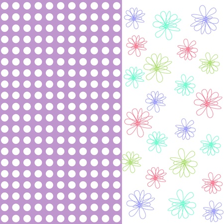 seamless floral background, floral greeting card
