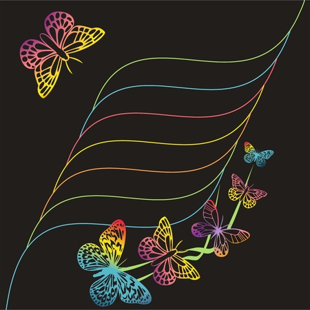 decorative butterfly greeting card Illustration