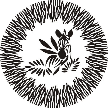 zebra of the leaves, animals frame