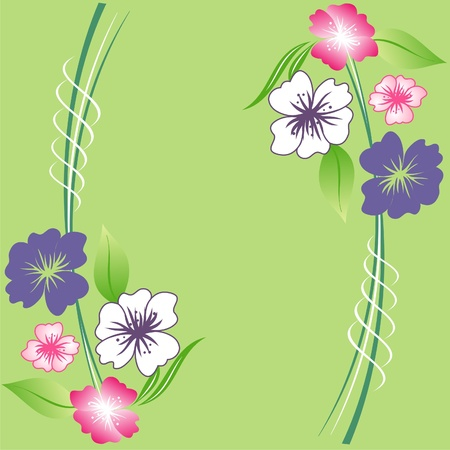 floral background, floral greeting card,decorative floral pattern in spring quilt Stock Vector - 12902038