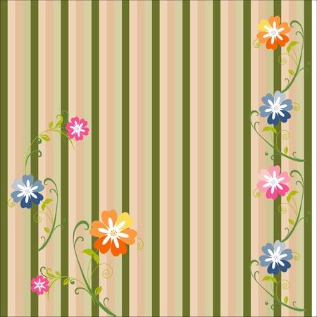 Spring flowers on the lines of modern, floral seamless pattern, excellent seamless floral background, seamless fabric pattern, seamless vector design Stock Vector - 12902157