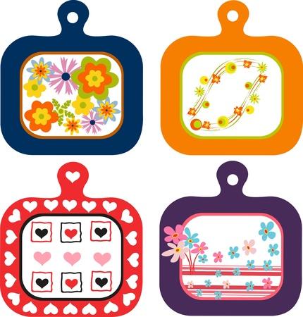 Decorative vegetable chopping board,decorative patterns of vegetable food on chopping board
