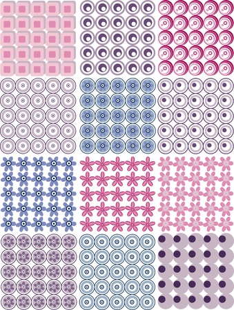 Geometric seamless pattern, floral seamless background, seamless fabric pattern Vector