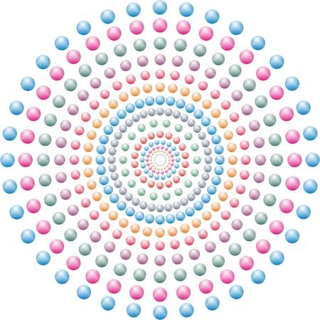 Decorative colored bubbles,colored balls nested,colored circles