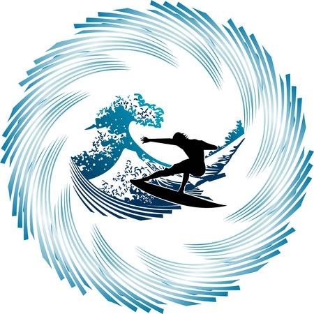 Surfers in the waves,dancing in the giant waves, surfers