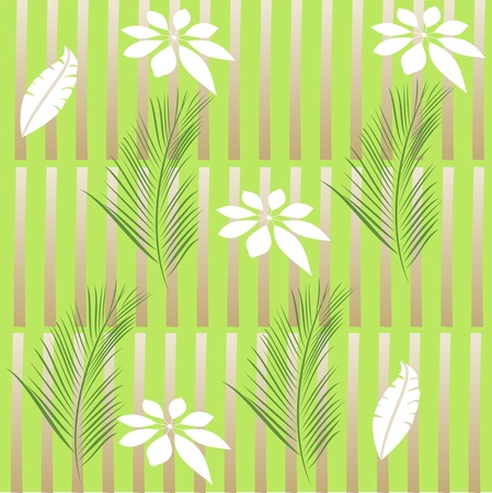 Flowers on bamboo canes,spring floral background, seamless floral pattern Stock Vector - 13144209