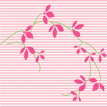Pink blossoms on the lines,seamless floral background, Stock Vector - 13144189