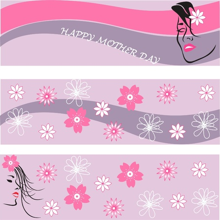Mother day s background set,mother day greeting card, floral greeting card