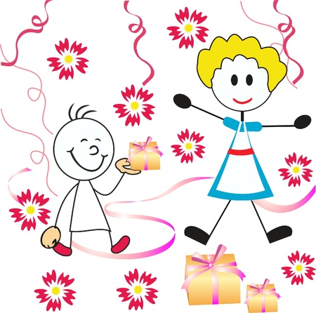mother s day greeting card Stock Vector - 13517537
