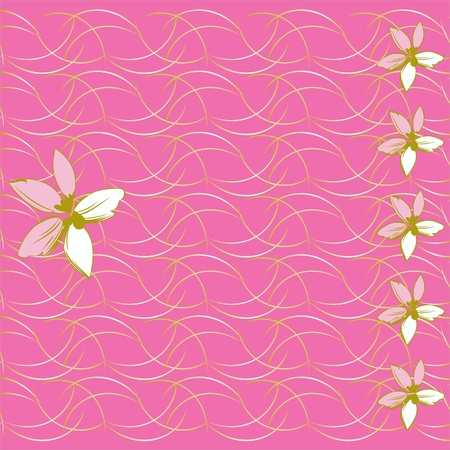 Elegant pink flowers on the ground,mothers, dey greeting card,
