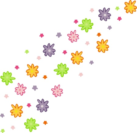 Colorful floral design on a white background, mother s day greeting card, Stock Vector - 13517512
