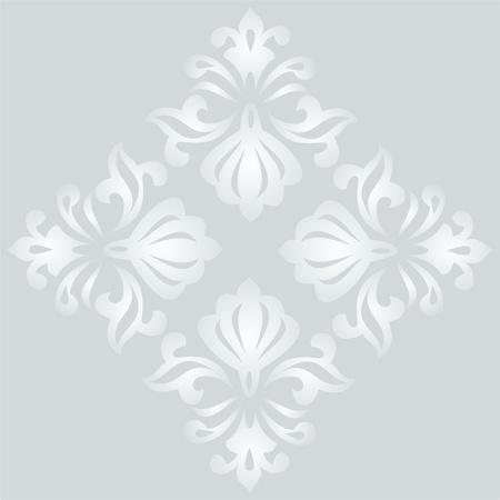 Elegant light seamless fabric patterns, classic ottoman pattern Illustration