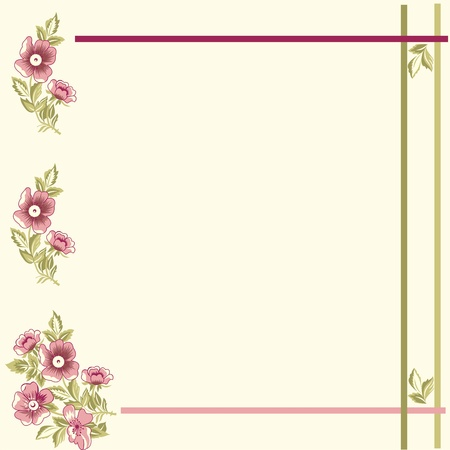 Excellent seamless floral background, floral card, elegant flowers on a pale yellow Illustration