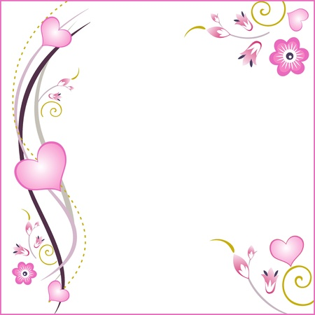 Valentines day background, flowers on a white background,