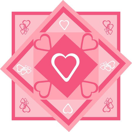 Framed in pink hearts on the floor,valentines day wallpaper, Illustration