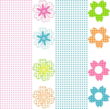 Floral seamless fabric design, floral seamless background, Stock Vector - 13707761