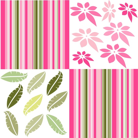 Retro floral seamless pattern,seamless fabric background Stock Vector - 13707753