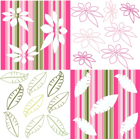 Retro floral seamless pattern,seamless fabric background Stock Vector - 13707756