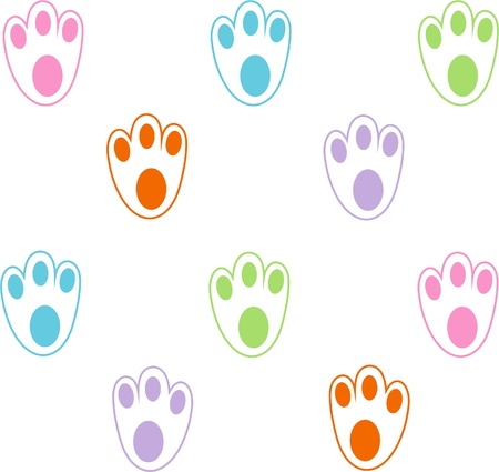 Pattern from animal paws - vector illustration Illustration