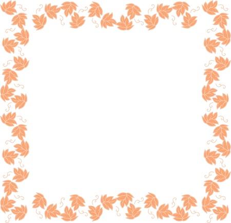 coward: Vine-leaf frame,floral background