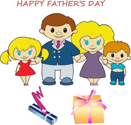 Doodle happy father s day card for father s day, Vector