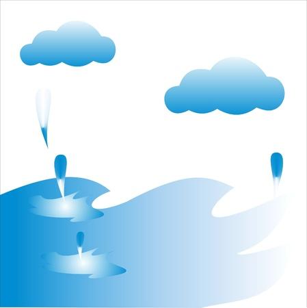 Raindrops, Water drops Stock Vector - 14299358