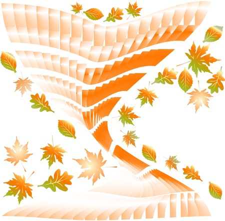 Fallen autumn leaves background.  Stock Vector - 15506234