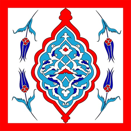 Traditional Oriental Art, of handmade Turkish tiles, Stock Vector - 16760838