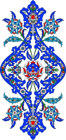 Ottoman classical pattern of hand decoration Illustration