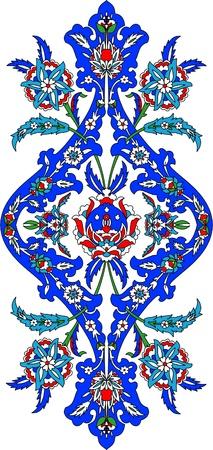 turkey istanbul: Ottomano modello classico di decorazione a mano