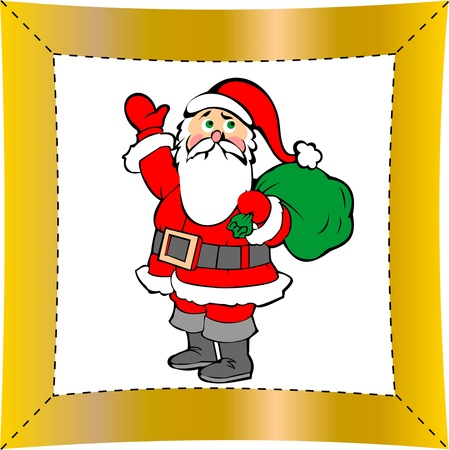 Christmas santa claus isolated on white background Stock Vector - 16760837