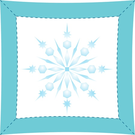 Christmas snowflake applique vector background