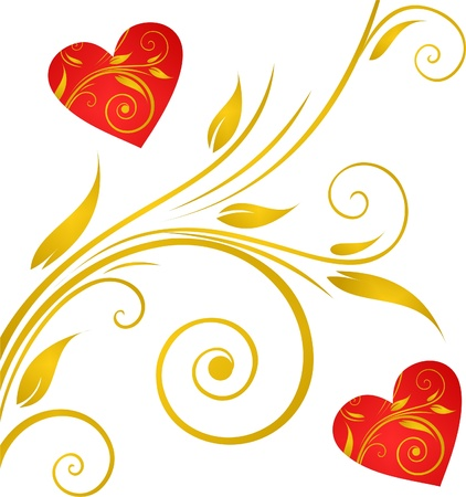 Valentines Day background with Hearts, element for design