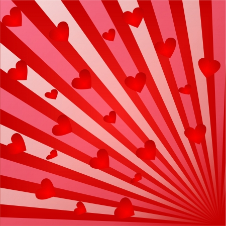 Valentines Day background with Hearts, element for design Stock Photo - 17014894