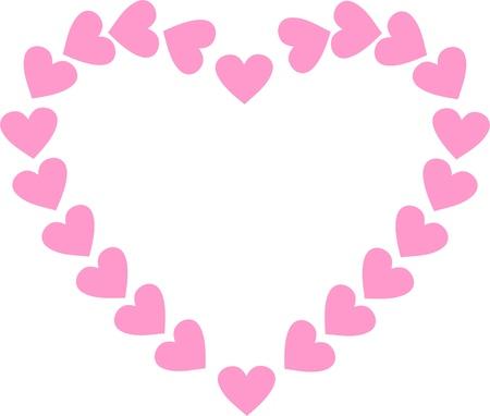 Romantic valentine frame,