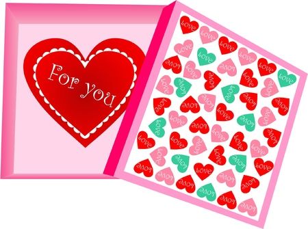 Valentine s Day heart in a special box