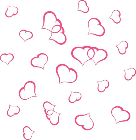 Valentine background with heart illustration Stock Vector - 17354267