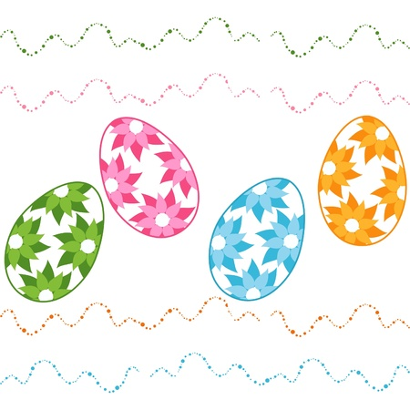 Vector illustration of easter eggs Vector